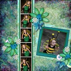 Multi Photo Layouts Tutorial here http://digiscrappingdivas.weebly.com/multi-photo-layouts.html  Kit is Seraphina from CatDesignz.com