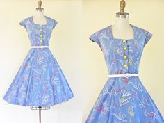 Hey, I found this really awesome Etsy listing at https://www.etsy.com/listing/233678107/50s-dress-vintage-french-1950s-dress