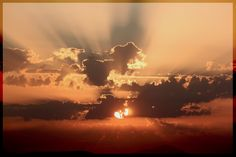 Sunset nella toscana