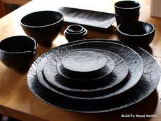 黒い器 | M.SAITo Wood WoRKS I want the whole set