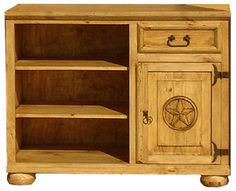 Authentic Rustic Pine TV Stands and Mexican Rustic TV Stands Rustic Pine Furniture, Star Tv, Mexican Furniture, Southwestern Home, Cable Box, Tv Cabinets, Home Accessories, Small Spaces, Drawer