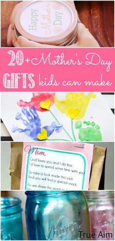 20+ Mother's Day Gifts and Crafts Kids Can Make!