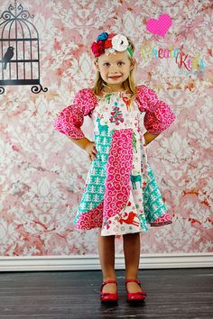Violette's Swirly Peasant Dress PDF Pattern by CreateKidsCouture, $12.00