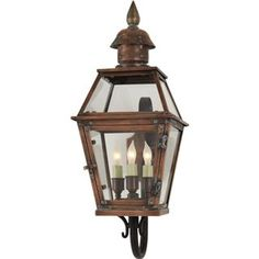 Check out the Visual Comfort CHO2080NC Chart House Pimlico Small 3 Light Tube Arm Lantern in Natural Copper priced at $692.90 at Homeclick.com.