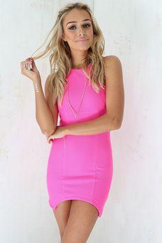Textured Pink Dress   SABO SKIRT