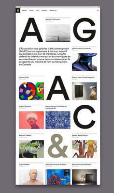 Picture of website designed by Bureau Principal for the project AGAC. Published on the Visual Journal in date 11 February 2016