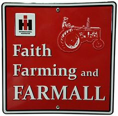 Featuring a full line of all colors- John Deere, Case IH, Farmall, Ford, and even Smith and Wesson. Farm friendly gear for the whole family. Antique Tractors, Vintage Tractors, Tractor Pictures, Farm Humor, Farmall Tractors, Lawn Tractors, Farm Paintings, Tractor Pulling, Red Tractor