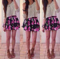 2tkyxb-l-610x610-skirt-sweater-cute-outfit-fashion-teen-teenager-teenage-girl-flower-floral-print.jpg (610×603)