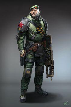 Red Soldier by ARTOFJUSTAMAN.deviantart.com on @deviantART