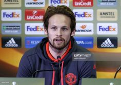 Manchester United's Daley Blind speaks at a press conference ahead of their 2016-17 UEFA Europa League Round of 16, 1st leg football match against FC Rostov. Valery Matytsin/TASS