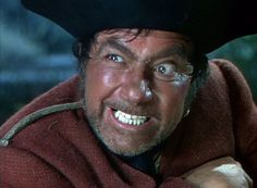 "Robert Newton as Long John Silver in Disney's ""Treasure Island,"" Action Film, Live Action, Robert Newton, Film Disney, Disney Live, Westwood Village, Long John Silver, Disney Treasures, Pirate Treasure"