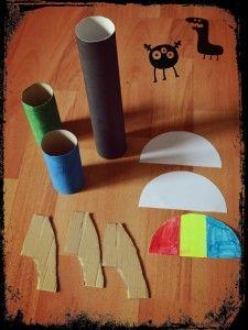 Matériel pour Fusées avec rouleaux papier toilette et sopalin