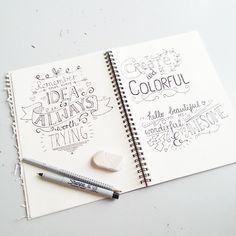 Handlettering inspiration via Luloveshandmade.blogspot.com ♥ #handlettering