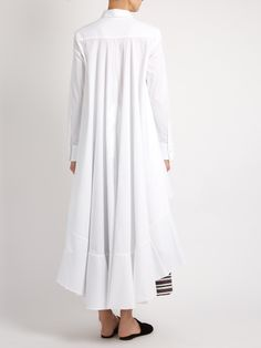 Palmer//harding Extended waterfall-hem cotton-poplin shirt