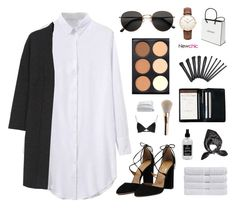 """Newchic 8"" by jesicacecillia ❤ liked on Polyvore featuring Royce Leather, H&M, Daniel Wellington, Chanel, Alexander McQueen, T By Alexander Wang, Little Barn Apothecary, Frette, Calvin Klein Collection and Christy"