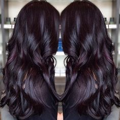 Gorgeous dark #violet color on this long haired beauty! :: RedBloom Salon