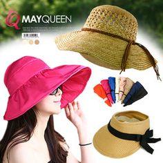 Gmarket - MAYQUEEN Sun hat / floppy hat / bow accent / straw h...
