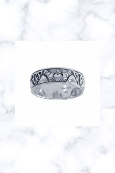 Celtic Knotwork Claddagh Sterling Silver Ring