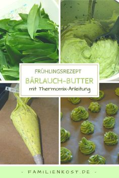 Wild garlic butter homemade with Thermomix for freezing – Grillen Garlic Recipes, Veggie Recipes, Cooking Recipes, Herb Butter, Garlic Butter, Homemade Sloppy Joes, Yummy Veggie, Wild Garlic, Party Buffet