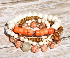 Welcome Spring Stacking Bracelets / Layering by BeadRustic on Etsy, $75.00