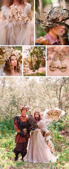 fairy theme midnight summer wedding ideas