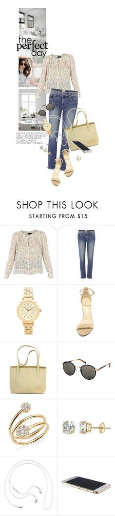 """""""PerfectDay"""" by reginakos ❤ liked on Polyvore featuring Isabel Marant, Paige Denim, DKNY, LULUS, Bally, Garrett Leight, Bloomingdale's, Renaissance Collection, Samsung and summerstyle"""