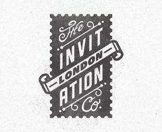 London stamp logo type