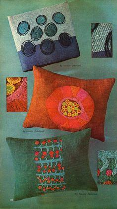 "Wonderful Finnish pillows from ""Mc Calls' needlework & crafts"" spring/summer 1966). via cathyofcalifornia.typepad"