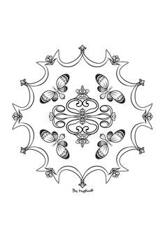 Mandala #mandala #zentangle #arttherapie #coloriageadulte #coloriagezen #coloriage Zentangle, Creations, Mandalas, Art Therapy, Drawing Drawing, Zen Tangles, Zentangles