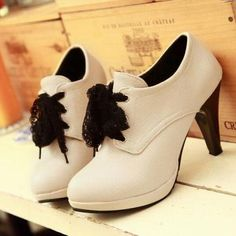 Lace Bowknot High Heels