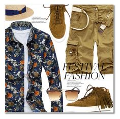 """Good Vibes Only: Festival Fashion"" by svijetlana ❤ liked on Polyvore featuring Louis Leeman, Barbisio, men's fashion, menswear, festivalfashion and rosegal"