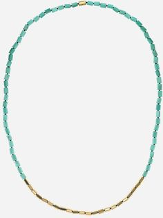 Long turqoise & gold necklace