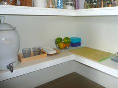 montessori snack / drink station (pantry):  snacks and water