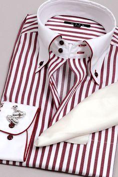 a striped shirt・cleric shir