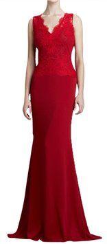 Badgley Mischka Lace Evening Gown Dress