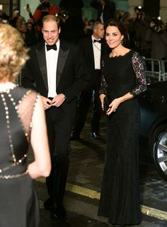 The Duke & Duchess of Cambridge arrive at the Royal Variety Performance at the London Palladium