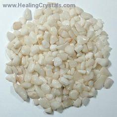 Tumbled White Aventurine Chips- White Aventurine - Healing Crystals