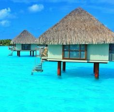 Overwater bungalows at Le Meridien, Bora Bora. Photo courtesy of mthiessen on… Bora Bora, Tahiti, Dream Vacation Spots, Vacation Places, Vacation Destinations, Dream Vacations, Places To Travel, Places To Visit, Holiday Destinations