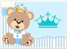 Resultado de imagem para tarjeta de invitacion osito principe