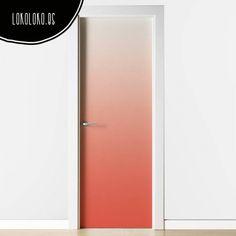 Vinilo decorativo de color coral degradado para forrar puertas modernas de superficie lisa