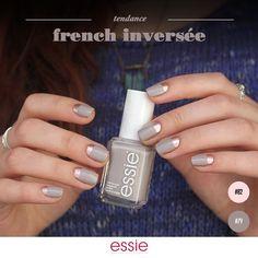 « Aimez-vous les variantes à la French manucure, comme cette French inversée réalisée par @angepinselt avec les Sand Tropez et Buy Me A Cameo ? #essie… »