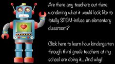 Are there are teachers out there wondering what it would look like to totally STEM-infuse and elementary classroom?  Here is how teachers at my school are doing it... and why!
