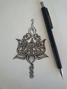 lotus neck tattoo - Google Search