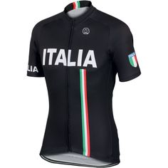 Italia Black Cycling Jersey