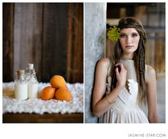Unique boho wedding hair   Seattle Organic Wedding Jasmine Star
