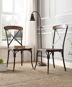 Love this Bosworth Rustic Dining Chair - Set of Two on #zulily! #zulilyfinds