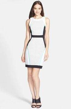 G.I.N. Textured Colorblock Sheath Dress  #Nordstrom