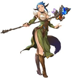 View an image titled 'Eleyna Farrence Art' in our Star Ocean: Anamnesis art gallery featuring official character designs, concept art, and promo pictures. Female Character Concept, Fantasy Character Design, Female Character Design, Character Design References, Character Design Inspiration, Character Art, Dungeons And Dragons Characters, Dnd Characters, Fantasy Characters