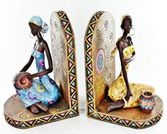 Bookends Book Ends Tribal Ethnic
