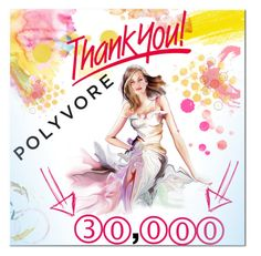 """""""30,000 followers! Thank you!!"""" by christinacastro830 ❤ liked on Polyvore featuring art"""